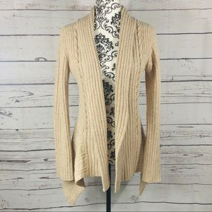 Anthropologie Canary Knitting Needles Wool Sweater